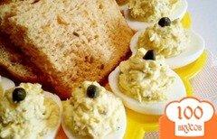 Фото рецепта: «Яйца фаршированные каперсами и дайконом»
