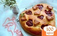 Фото рецепта: «Пирог «Ягодное сердце»»