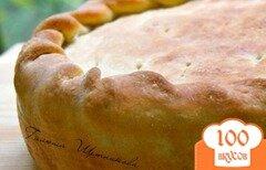 Фото рецепта: «Пирог с начинкой из картофеля, грибов и бекона»
