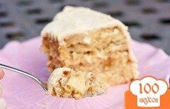 Фото рецепта: «Карамельный торт с яблоками»