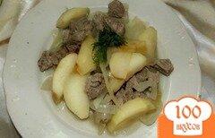 Фото рецепта: «Нежная говядина в яблочно-уксусном соусе»
