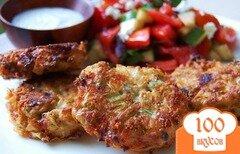 Фото рецепта: «Сырные оладьи с бамией»