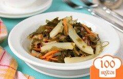 Фото рецепта: «Салат с кальмарами и морской капустой»