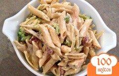 Фото рецепта: «Паста с курицей и беконом»