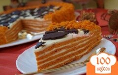 Фото рецепта: «Вкусный торт «Сахара»»