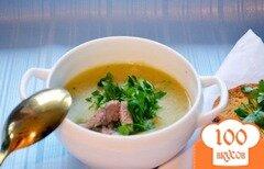Фото рецепта: «Суп-пюре с брокколи и сухариками»