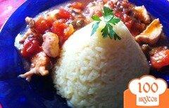 Фото рецепта: «Куриное филе с тайским соусом и рисом»