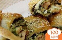 Фото рецепта: «Куриные рулетики с зеленью»