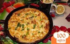 Фото рецепта: «Запеченный омлет с беконом,грибами и сыром»