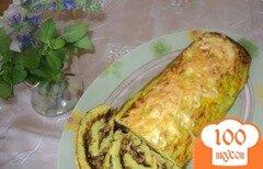 Фото рецепта: «Рулет из кабачков с грибами и сыром.»