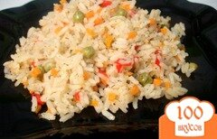 Фото рецепта: «Рис с перцем и горошком»