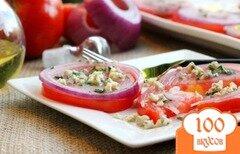 Фото рецепта: «Салат со свежими помидорами и луком»