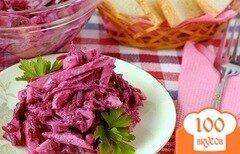 Фото рецепта: «Салат из свежей свёклы»