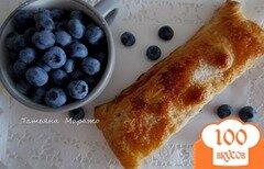 Фото рецепта: «Пирог с яблоками и черникой (голубикой)»