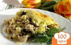 """Фото рецепта: «Курица с рисом под соусом """"Морнэ""""»"""