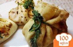 Фото рецепта: «Нежные мешочки с сыром»