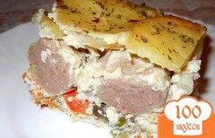 Фото рецепта: «Овощная запеканка с фрикадельками»