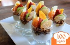 Фото рецепта: «Вкусный и легкий в приготовлении завтрак-мюсли»