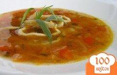 Фото рецепта: «Суп с кальмарами и эстрагоном»