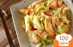 Фото рецепта: «Китайская капуста жареная с курицей»