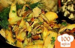 Фото рецепта: «Вешенки, жареные с картошкой»