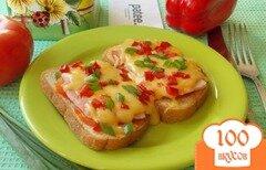 Фото рецепта: «Горячие бутерброды с ветчиной, помидорами и сыром»