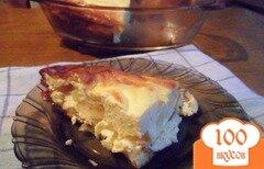 Фото рецепта: «Творожная запеканка с яблоками»