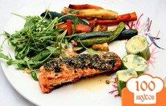 Фото рецепта: «Семга под сыром с овощами»