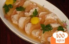 Фото рецепта: «Заливное из курицы с грейпфрутом»