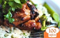 Фото рецепта: «Куриные окорочка на гриле с рисом»