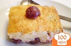 Фото рецепта: «Творожное суфле с черешней»