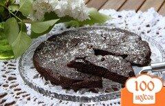 Фото рецепта: «Итальянский шоколадно яблочный пирог»