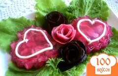 Фото рецепта: «Заливное «Валентинка»»