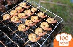 Фото рецепта: «Шышлычки с креветками и говядиной»