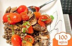 Фото рецепта: «Чечевица с грибами и помидорами»