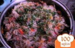 Фото рецепта: «Фунчоза с мясом и овощами»