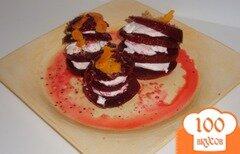 Фото рецепта: «Свекла с козьим сыром»