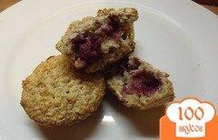 Фото рецепта: «Овсяные кексы с малиной»
