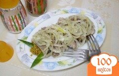 Фото рецепта: «Селедка под луком и горчицей»