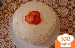 Фото рецепта: «Клубничный торт со сливочным сыром»