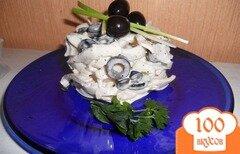 Фото рецепта: «Салат из кальмаров и оливок»