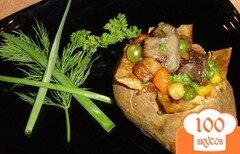 Фото рецепта: «Запеченный картофель с овощами»