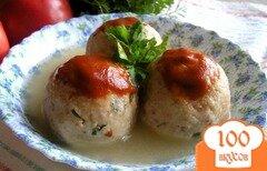 Фото рецепта: «Канедерли из хлеба и колбас в бульоне»