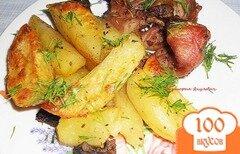 Фото рецепта: «Запеченный кролик с картофелем»