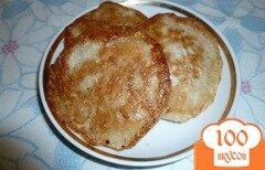 Фото рецепта: «Дрожжевые оладьи с овсяными отрубями»
