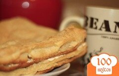 Фото рецепта: «Быстрые пирожные к чаю из слоеного теста»