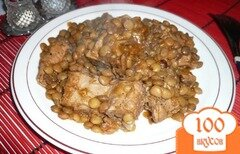 Фото рецепта: «Чечевица со свиным рагу»