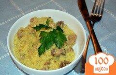 Фото рецепта: «Каша пшеная с куриным ливером»