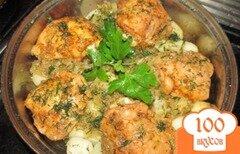 Фото рецепта: «Пикантная курочка с картофелем»