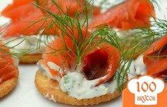 Фото рецепта: «Канапе с лососем и сливочным сыром»